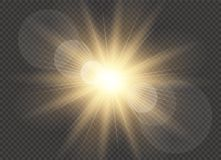 Vector transparent sunlight special lens flare light effect. Sun flash. Vector transparent sunlight special lens flare light effect. Sun flash Stock Photography