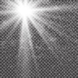 Vector transparent sunlight special lens flare light effect. Sun flash with rays , snow and spotlight.  Royalty Free Stock Photos