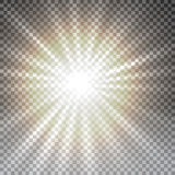 Vector transparent sunlight special lens flare light effect. Royalty Free Stock Photos