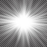 Vector transparent sunlight special lens flare light effect. Sun flash with rays and spotlight.  Royalty Free Stock Images