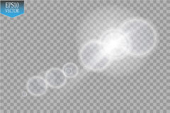 Vector transparent sunlight special lens flare light effect. Sun flash with rays and spotlight Stock Photo