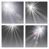 Vector transparent sunlight special lens flare light effect. Stock Photography