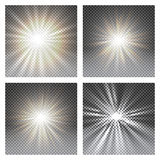 Vector transparent sunlight special lens flare light effect. vector illustration