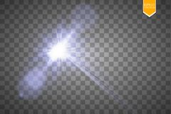 Vector transparent sunlight special lens flare light effect. Sun flash with rays and spotlight. Eps 10 Stock Images