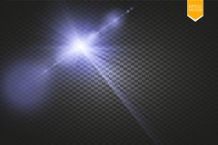 Vector transparent sunlight special lens flare light effect. Sun flash with rays and spotlight. Eps 10 Royalty Free Stock Photo