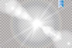 Vector transparent sunlight special lens flare light effect. Sun flash with rays and spotlight. Eps 10 stock illustration