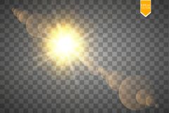 Vector transparent sunlight special lens flare light effect. Sun flash with rays and spotlight. Eps 10 vector illustration