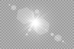 Vector transparent sunlight special lens flare light effect. Sun flash with rays and spotlight. Eps 10 Royalty Free Stock Photography