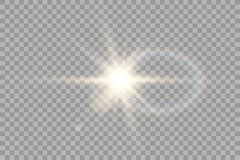 Vector transparent sunlight special lens flare light effect. Sun flash with rays and spotlight. Eps 10 royalty free illustration