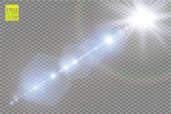 Vector transparent sunlight special lens flare light effect. Sun flash with rays and spotlight. Eps 10 Stock Photos
