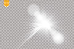 Vector transparent sunlight special lens flare light effect. Sun flash with rays and spotlight. Eps 10 Royalty Free Stock Image