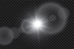 Vector transparent sunlight special lens flare light effect. Sun flash with rays and spotlight. Eps 10 Stock Photo