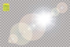 Vector transparent sunlight special lens flare light effect. Sun flash. Vector transparent sunlight special lens flare light effect. Sun flash with rays and Royalty Free Stock Photo
