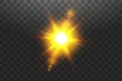 Vector transparent sunlight special lens flare light effect. Sun isolated on transparent background. Glow light effect.  vector illustration
