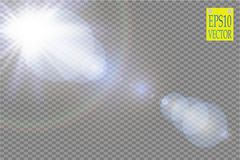 Vector transparent sunlight special lens flare light effect.. Sun flash with rays and spotlight. eps 10 Royalty Free Stock Image
