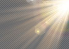 Vector transparent sunlight special lens flash light effect.front sun lens flash. Vector blur in the light of radiance. Element of. Vector transparent sunlight vector illustration