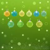 Vector transparente de las bolas de la Navidad Imágenes de archivo libres de regalías