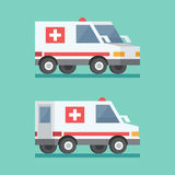 Vector transport ambulance car icon. Royalty Free Stock Photography