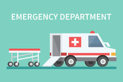 Vector transport ambulance car icon. Stock Photography