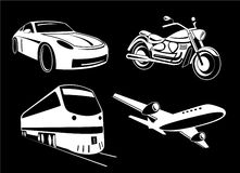 Vector transport illustration. Black and white. Other transport icons you can see in my portfolio Royalty Free Stock Photo
