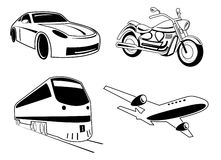 Vector transport illustration Royalty Free Stock Image
