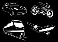 Vector transport illustration Royalty Free Stock Photography