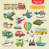 Vector transport toys vector illustration