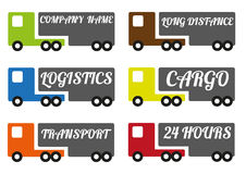 Vector transport trucks Stock Images