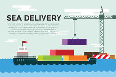 Vector transportation concept illustration global Royalty Free Stock Photography