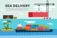 Vector transportation concept illustration global Stock Photography