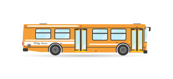 Vector transportation flat city transit bus  vehicle Royalty Free Stock Photo