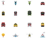 Vector transportation icon set Royalty Free Stock Photography