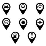 Vector transportation icon set. Royalty Free Stock Image