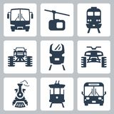 Vector transportation icons Stock Image