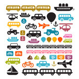 Vector Transportation Icons Set Royalty Free Stock Photos