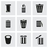 Vector trash icon set Stock Photography