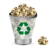 Vector Trashcan paper recycle Stock Photos