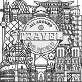Vector travel all around the world poster. Vector line travel all around the world poster Vector Illustration