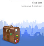 Vector Travel background Stock Photography