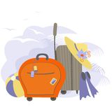 Vector travel bags Stock Images