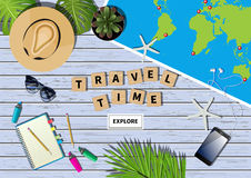 Vector travel banner Royalty Free Stock Images