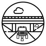 Vector travel car icon. Illustration vector illustration