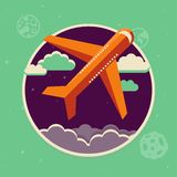 Vector travel concept in flat style Royalty Free Stock Photo