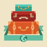 Vector travel concept in flat style Stock Photography
