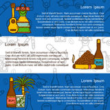 Vector travel concept with hand drawn objects and Royalty Free Stock Photos
