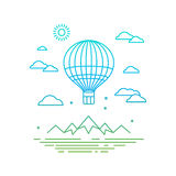 Vector travel concept in linear style Stock Image