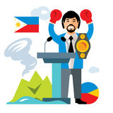 Vector Travel Concept Philippines. Flat style colorful Cartoon illustration. Stock Photography