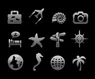 Vector travel icon set Stock Image