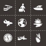 Vector travel icon set Stock Photo