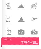 Vector travel icon set Royalty Free Stock Photos